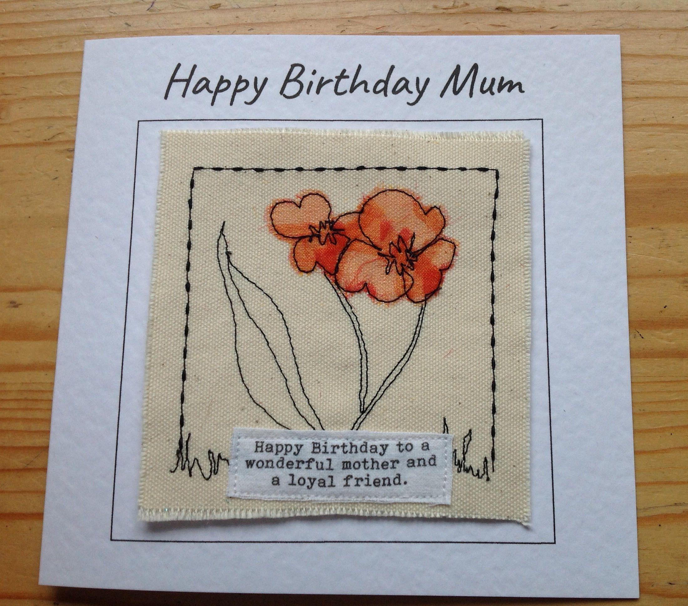 Mum Mother Birthday Card Mummy Birthday Card Personalised Card Mammy Mam Card
