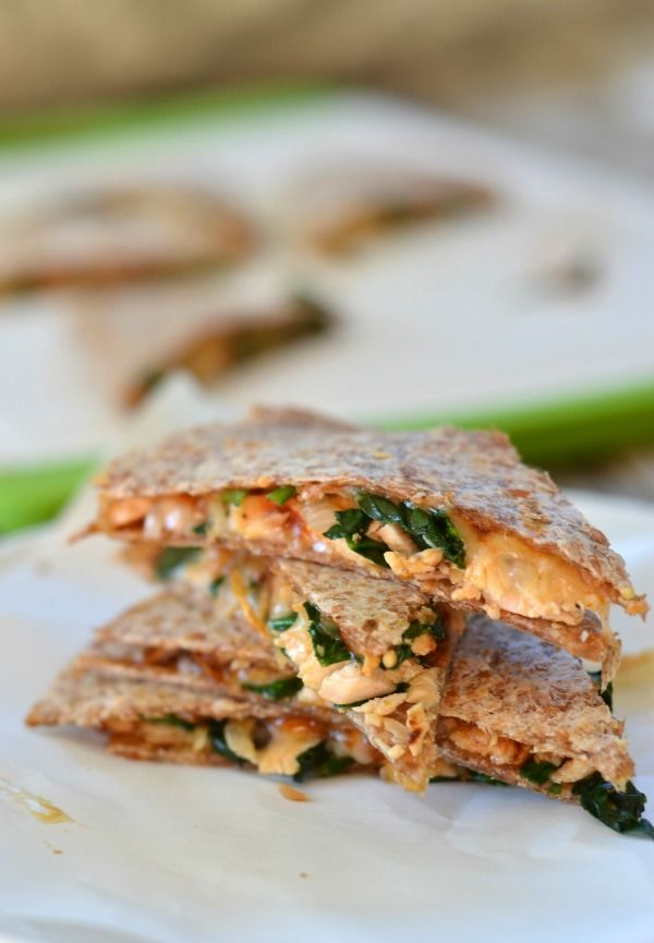 Barbecue Chicken Quesadillas With Spinach And Caramelized Onions Recipe Recipes Food Healthy Recipes