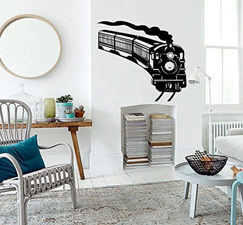 wall vinyl decal sticker steam train art design nursery on wall stickers for hall id=38826