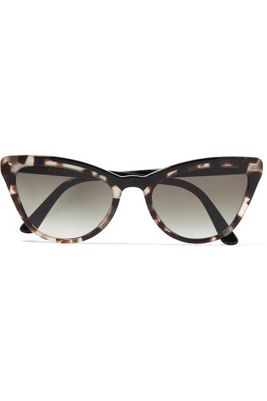 3b18b59e7 Prada - Cat-eye Tortoiseshell Acetate Sunglasses in 2019 | Products ...