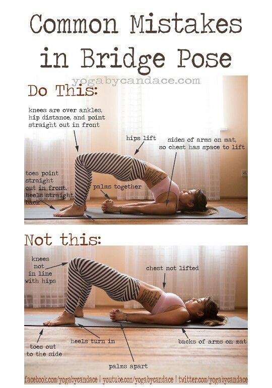 Dont let yourself get into the routine of doing yoga poses dont let yourself get into the routine of doing yoga poses incorrectly bridge pose is no different do this not that solutioingenieria Gallery