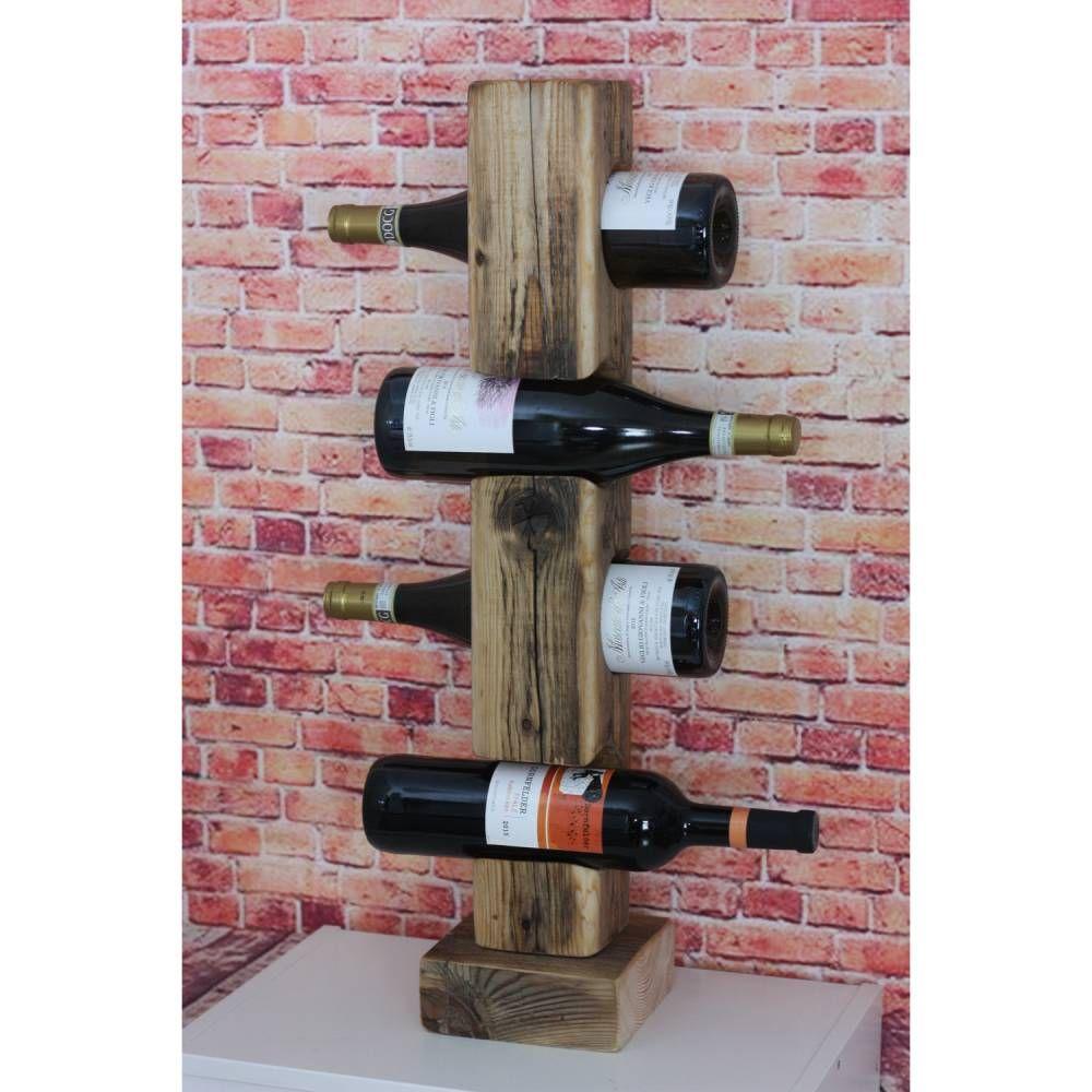 Weinflaschenständer Aus Altem Holzbalken Handmade Alte Holzbalken Weinregal Holz Holzbalken