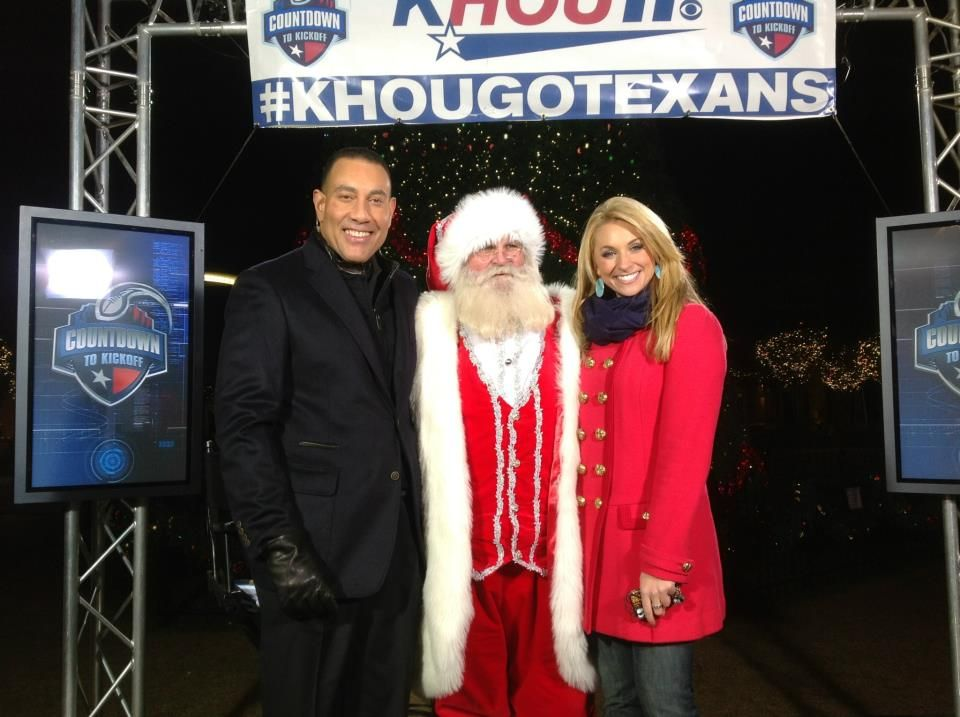 Santa dropped by 'Countdown to Kickoff' in The Woodlands to say hi to KHOU 11 Sports Anchor Butch Alsandor and Meteorologist Chita Johnson.