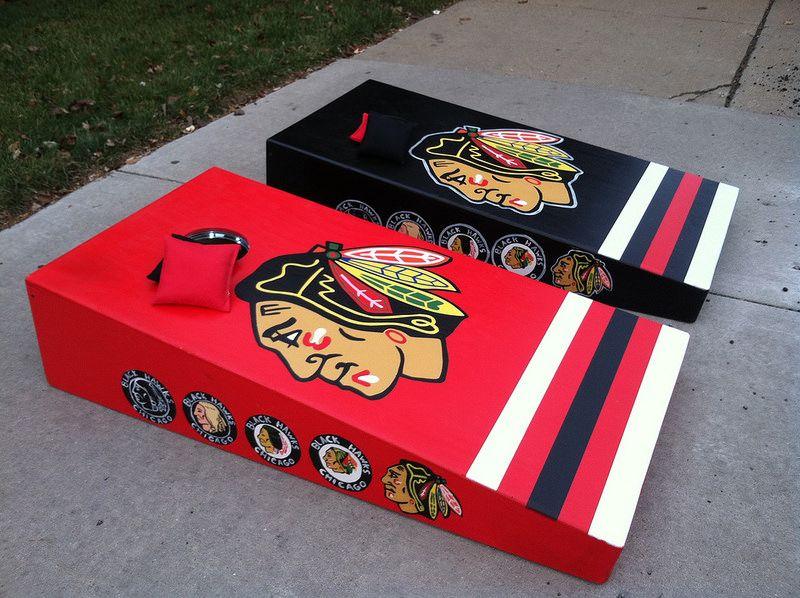 Chicago Blackhawks Evolution Of Logos Custom Bag Set