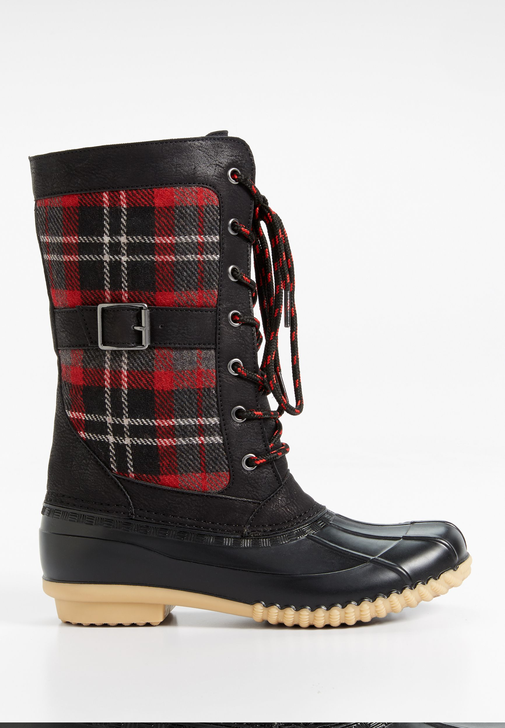 3149b02e8 Whitney plaid duck boot | MAURICES | Boots, Duck boots, Plaid