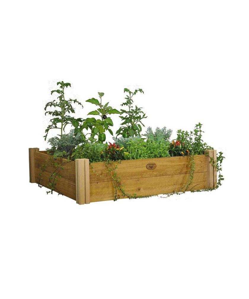 Rustic Cedar Raised Bed Made In The Usa Modular Raised Garden Beds Cedar Raised Garden Beds Cedar Raised Garden