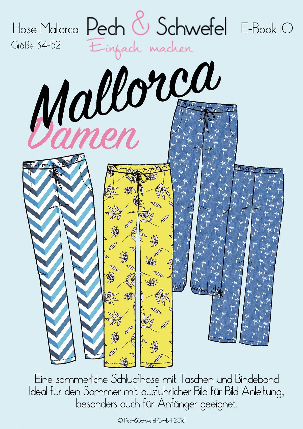 mallorca ist eine sommerliche schlupfhose mit taschen und bindeband sie kann in drei versionen. Black Bedroom Furniture Sets. Home Design Ideas
