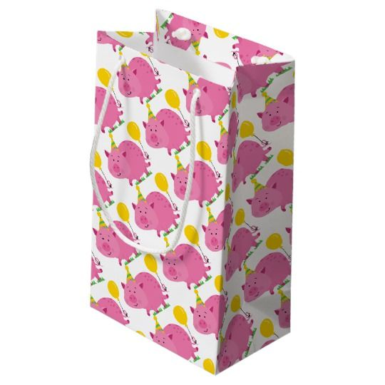 Pink Pig Birthday Small Gift Bag   Zazzle.com   Small gift ...