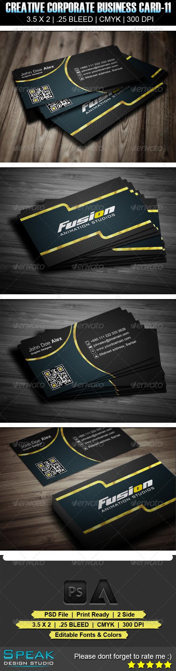 Fusion Creative Business Card Design Graphicriver Fusion Creative