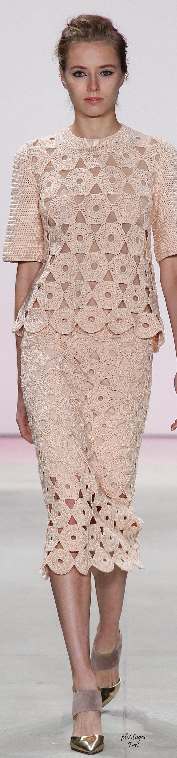 Lela Rose Spring 2016 RTW | Crochet Top | Pinterest | Vestiditos ...