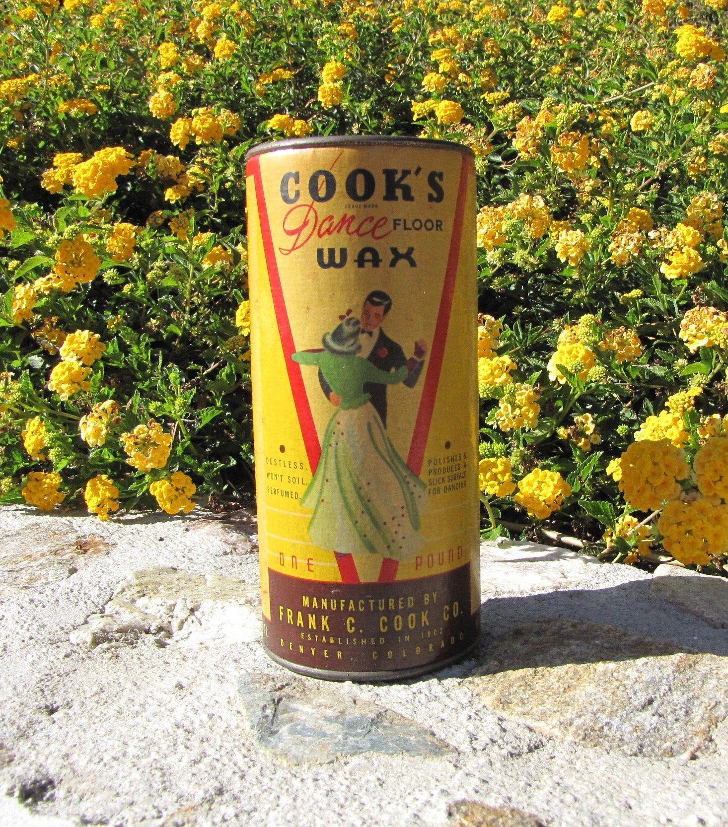 Vintage Cooks Dance Wax Vintage Advertising Wood Floor Wax