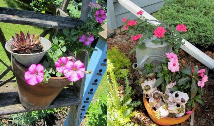 Gartenarbeit » Pflanzgefäße im Außenbereich \u2013 22 Ideen für - markisen fur balkon design ideen