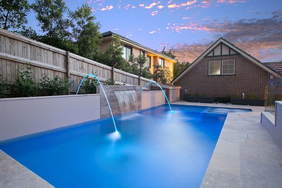 Water Spouts For Pools Pool Contemporary With Integrated Hot Tub