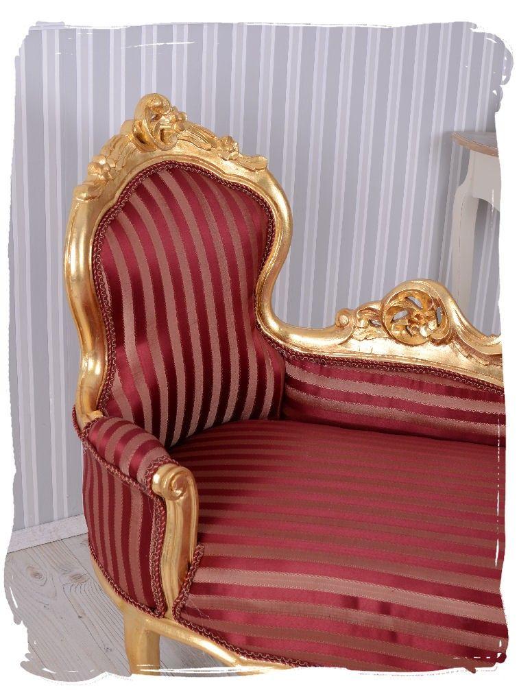 Landhausmöbel sofa ottomane  Ottomane Barock Gold Sofa Kanapee Liege Antik Stil Rokoko Möbel ...