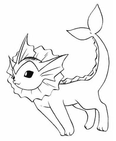 Vaporeon Coloring Pages | Annabelle ~ Pokemon | Pinterest ...