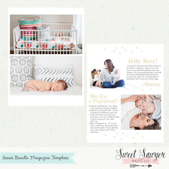 INSTANT DOWNLOAD - Newborn Magazine Template or Price List Template ...