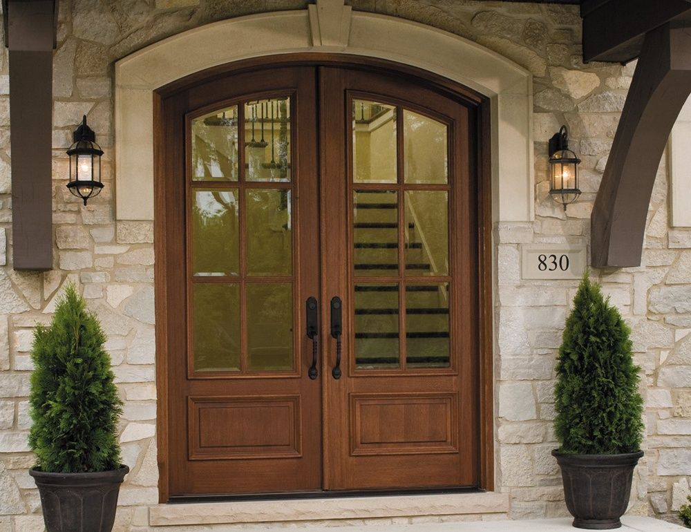 Rustic Pine Exterior Entry Doors With Glass Interesting Wood