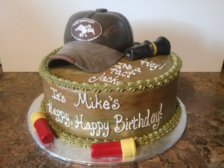Duck Commander birthday cake The cap is RKTs covered in fondant