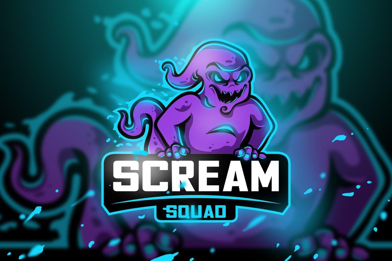 Scream Squad Mascot & Esport Logo by aqrstudio on
