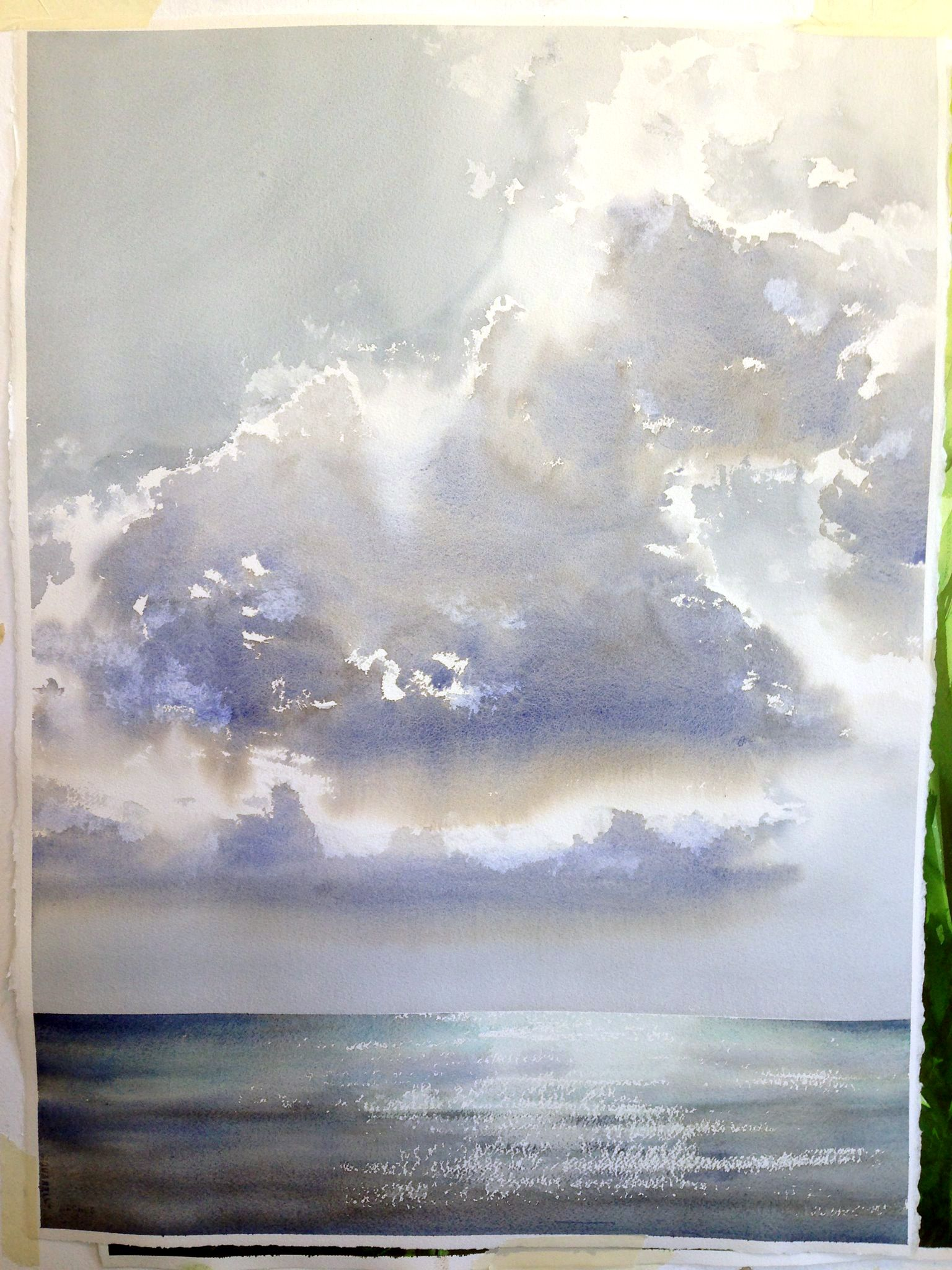 Stephen Berry Aquarell Ozean Wasserfarben Kunst Wasserfarben