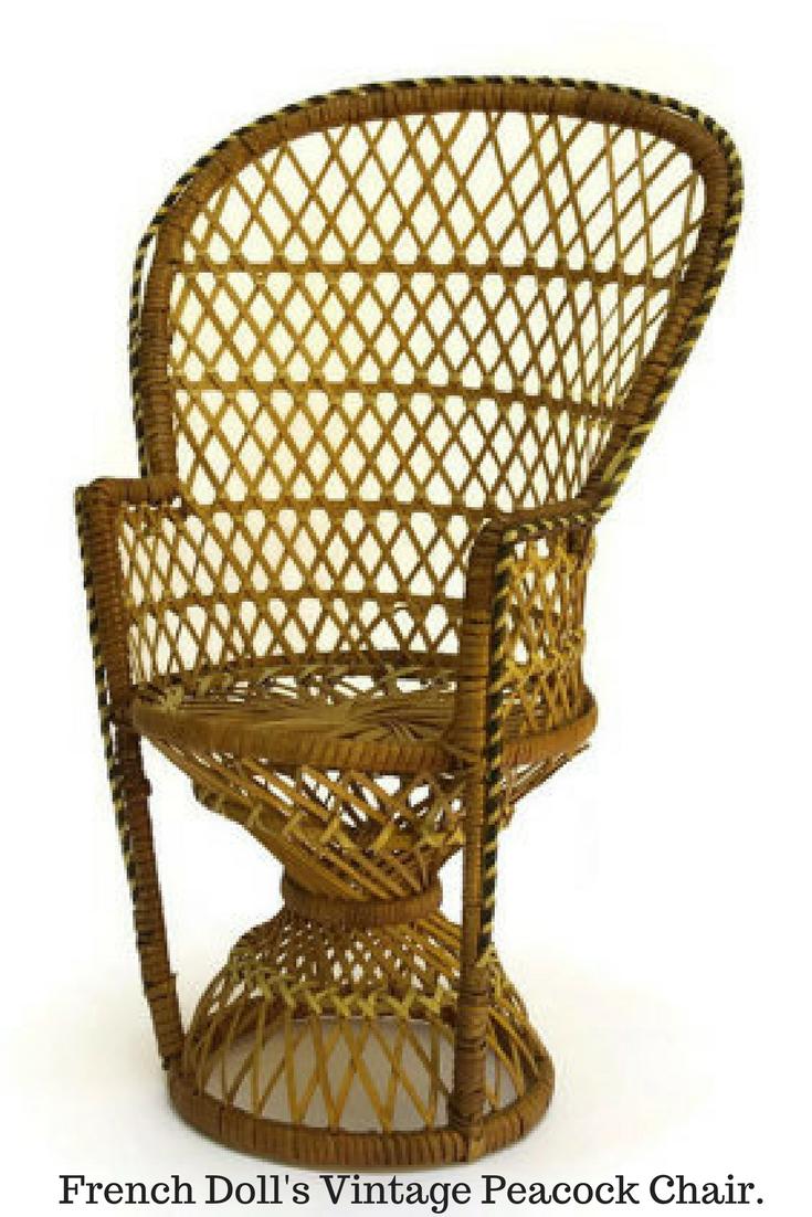 French Dollu0027s Vintage Peacock Chair. 1960s Doll Furniture Fan Chair. Boho  Décor. #