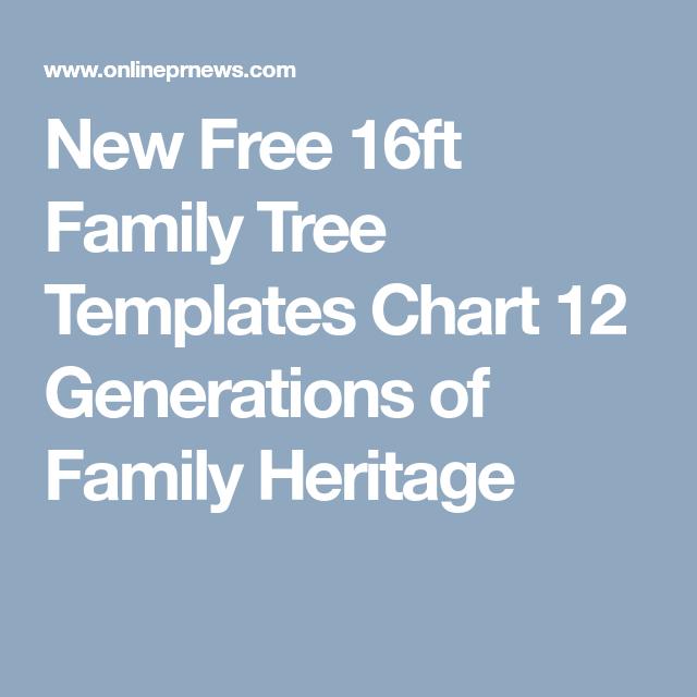 New Free 16ft Family Tree Templates Chart 12 Generations Of Family