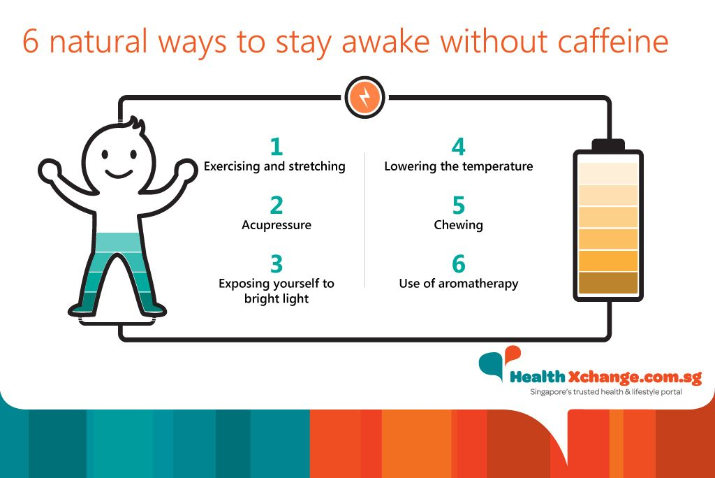 6 natural ways to stay awake without caffeine #healthtips