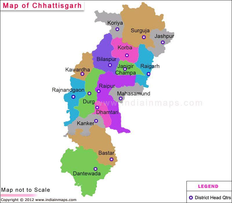 Chhattisgarh District Map