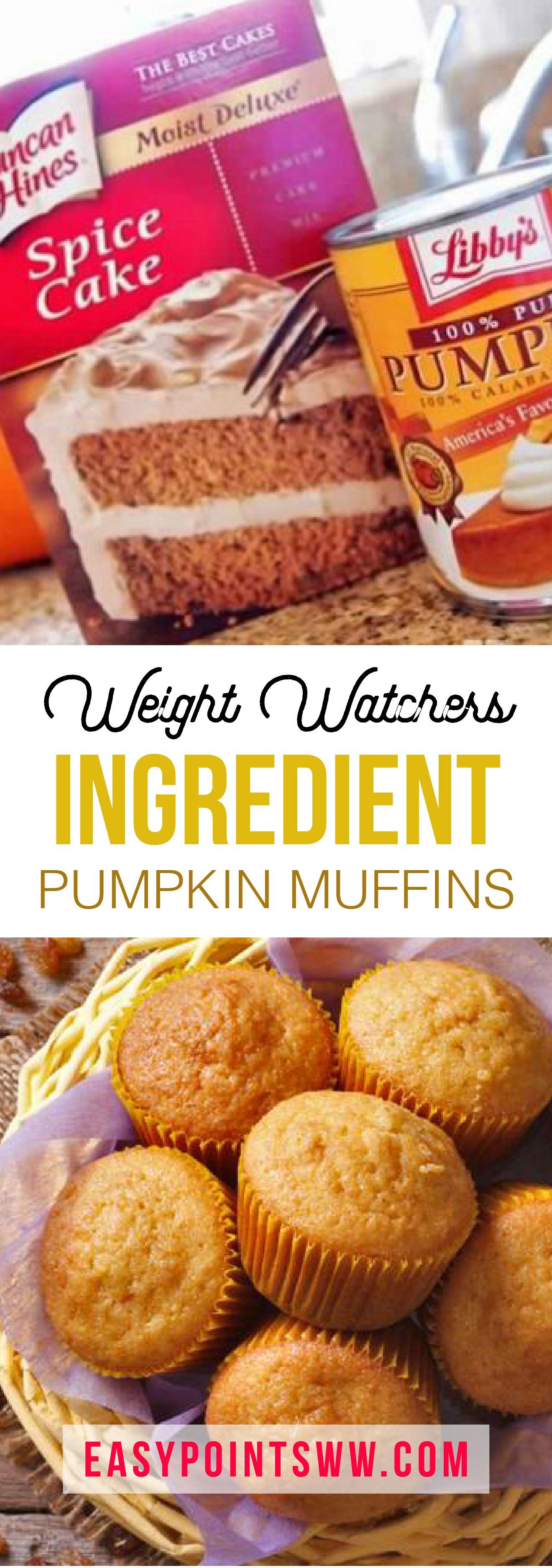 2-INGREDIENT PUMPKIN MUFFINS | Weight Watchers | Weight watchers
