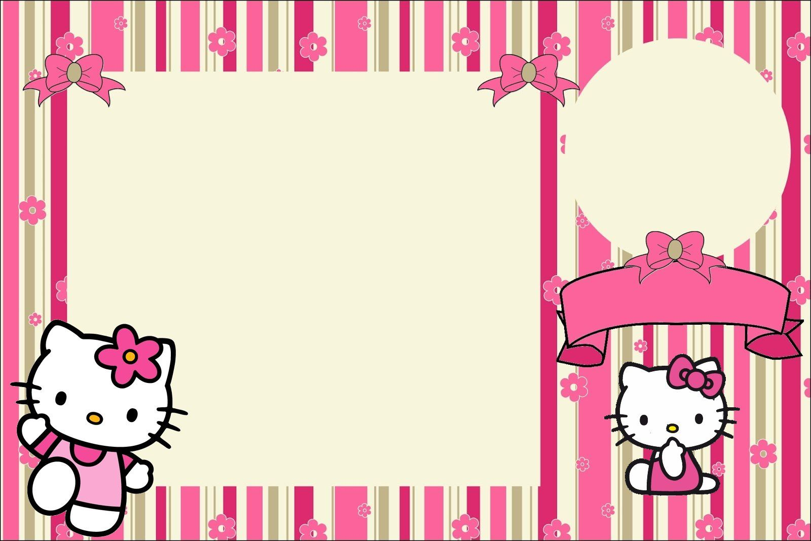 1Convite10jpg 1600 1068 hello kitty Pinterest – Free Printable Hello Kitty Birthday Card