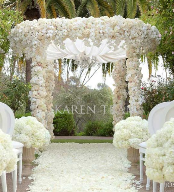 Wedding ceremony decorations outdoor luxury wedding for Decorations for weddings at home