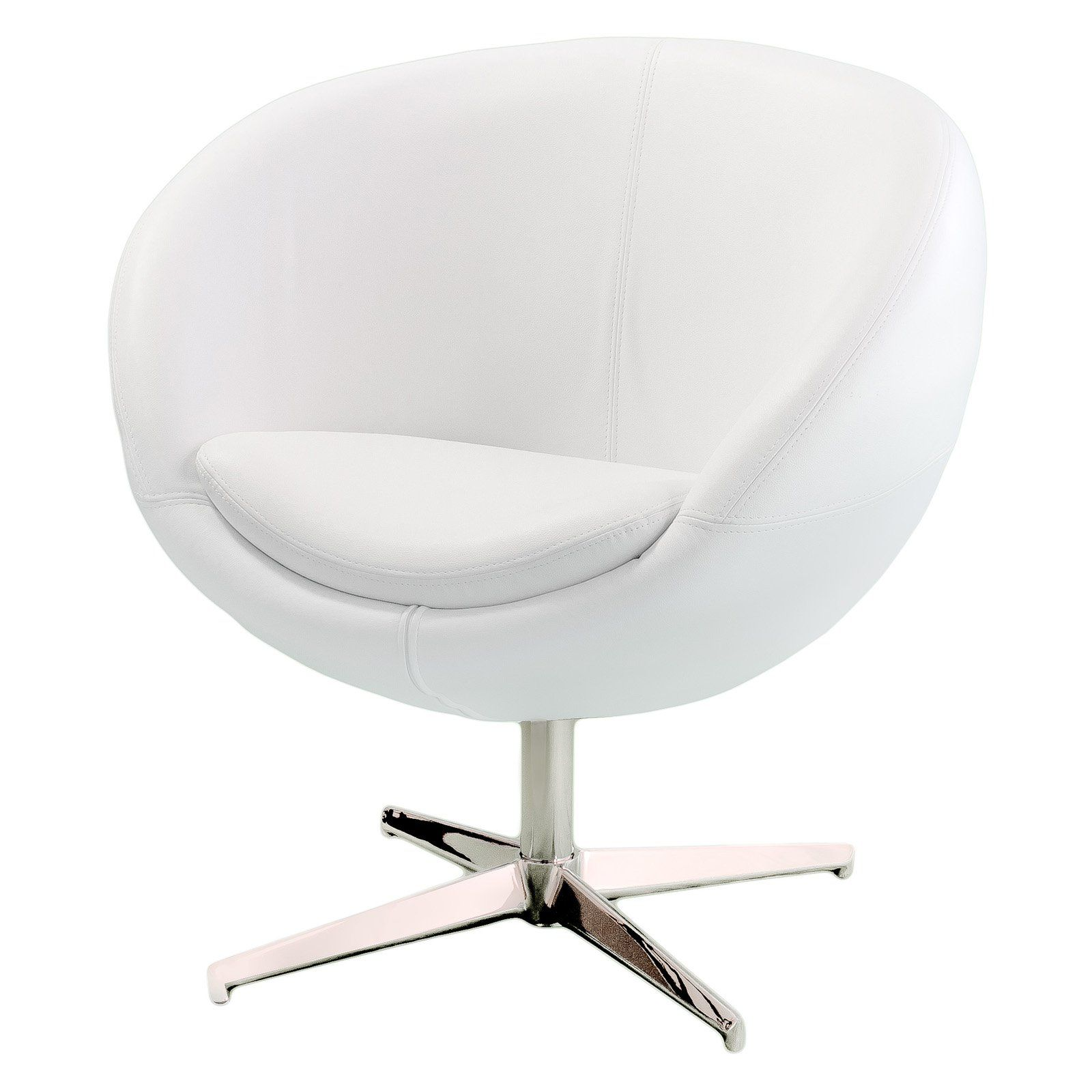 $195 Best Selling Home Decor Modern White Leather Roundback Chair | From  Hayneedle.com