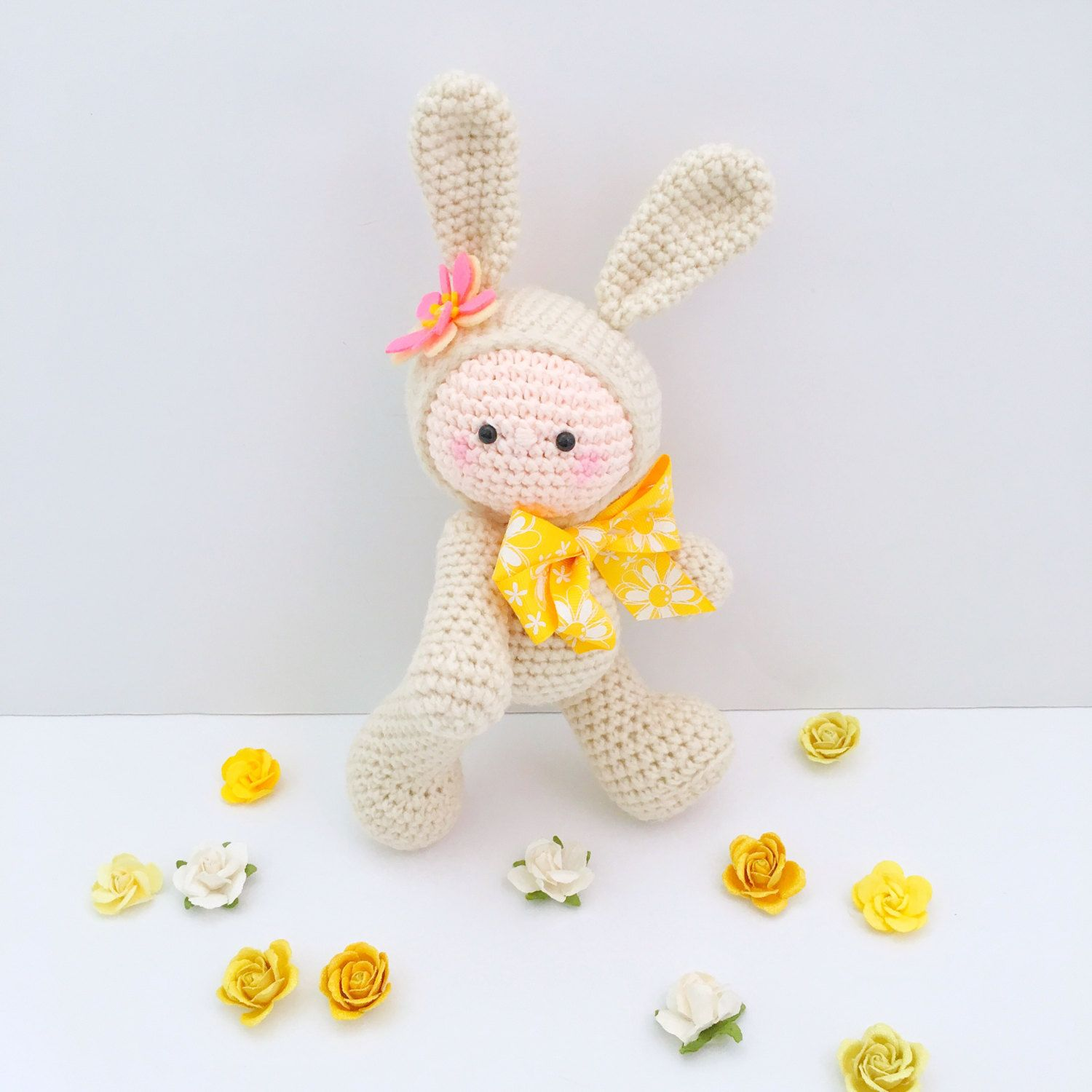 Toys images for kids  Amigurumi Baby Doll Crochet Bunny Plush Amigurumi Bunny Doll Crochet