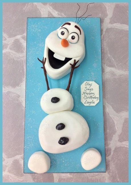 Superb Olaf Cake Olaf Cake Olaf Birthday Cake Olaf Cupcake Cake Personalised Birthday Cards Bromeletsinfo