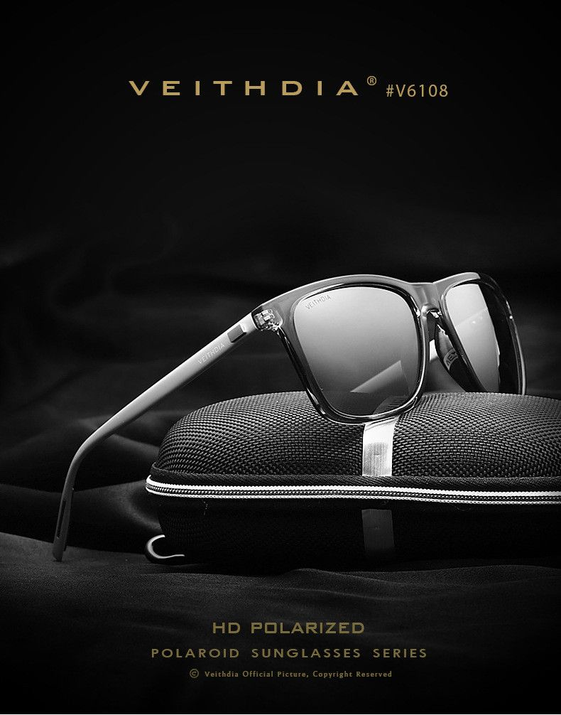 d165f8b5a2 awesome VEITHDIA 6108 Sunglasses