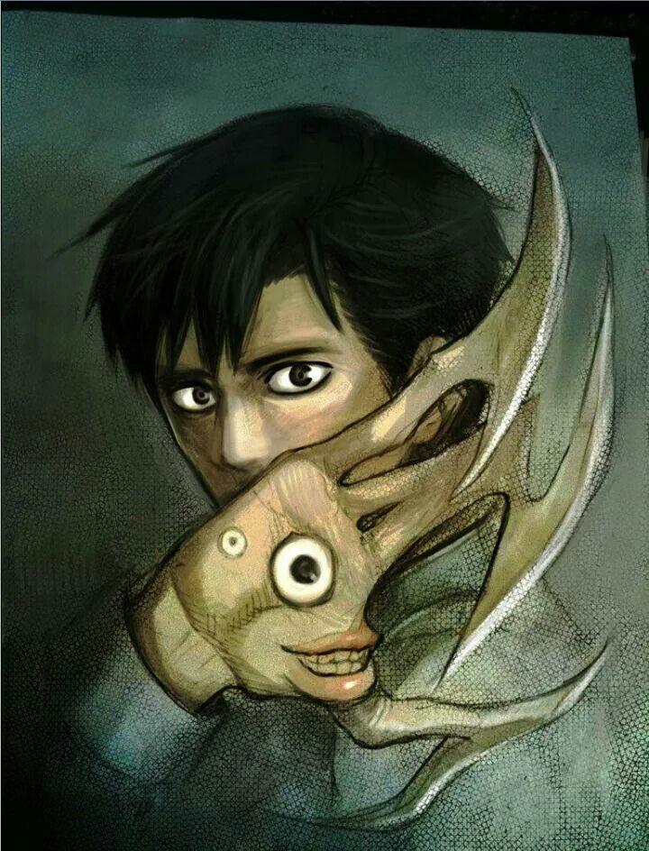 Shinichi Anime, Parasyte the maxim, Anime artwork