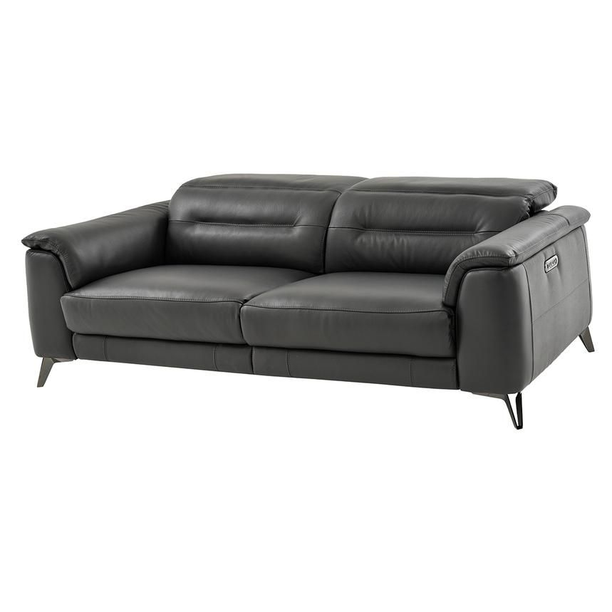 Anabel Gray Power Motion Leather Sofa Living Room In 2019 Sofa