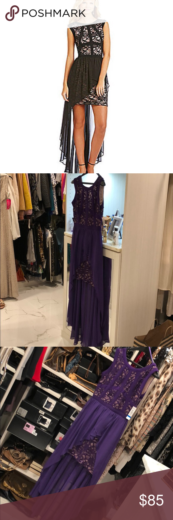 Morgan u co hi lo prom dress in deep purple boutique my posh