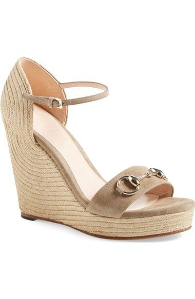 fc818bfe122 Gucci  Carolina  Ankle Strap Wedge (Women) available at  Nordstrom ...