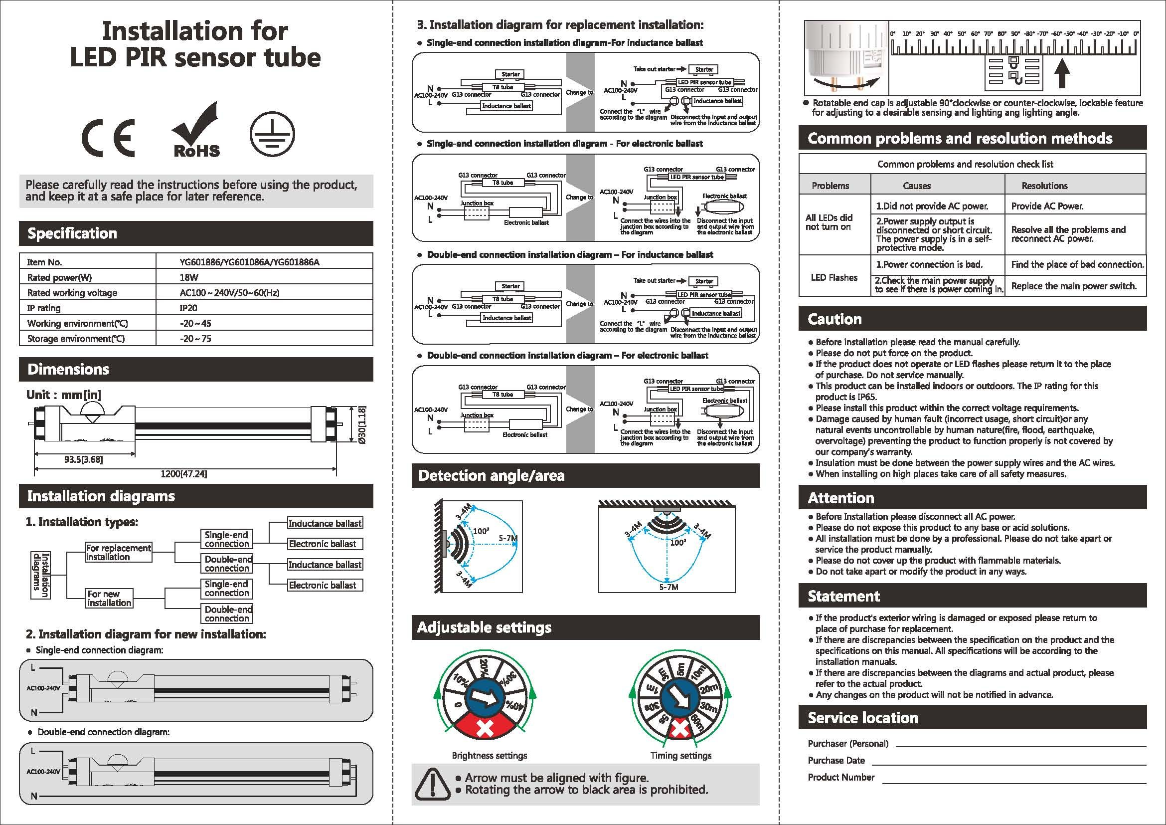The New Tforceled Smart Pir Motion Sensor T8 Fluorescent Tube Led Circuit Diagram Also Wiring Instruction Manual For