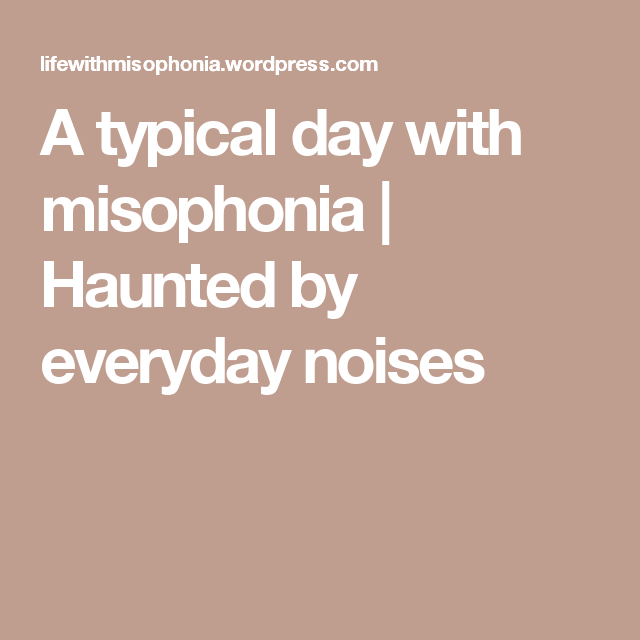 Misophonia ruining my relationship