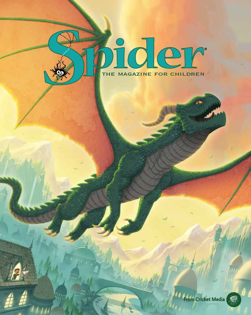 This dragon makes great transportation! March 2017 SPIDER cover by