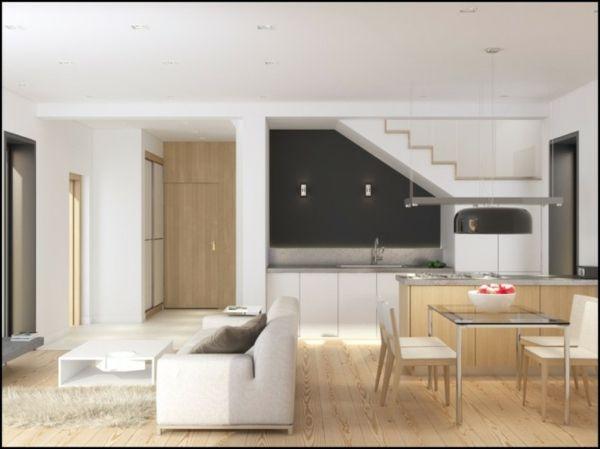 Attraktive Kombination von Wohn- und Esszimmer -    cooledeko - wohnzimmer esszimmer ideen