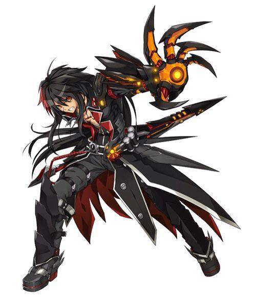 raven the veteran commander from elsword anime
