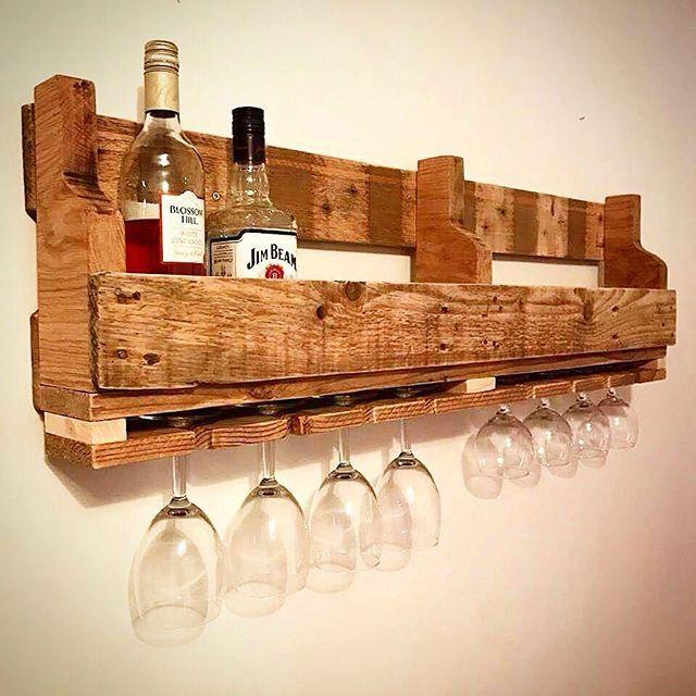 20 Eye Catching Under Stairs Wine Storage Ideas: Reclaimed Wood Wine Rack Wine Rack Pallet Wine Rack By