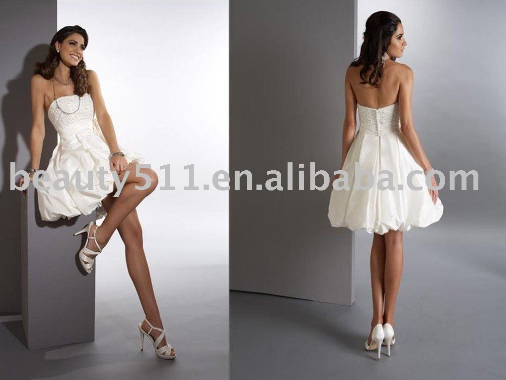 short bridal gowns  ... Details: 2011 short white casual wedding ...