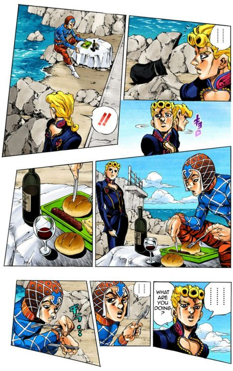 Mista Giorno Manga Jojo Bizzare Adventure Jojo Bizarre