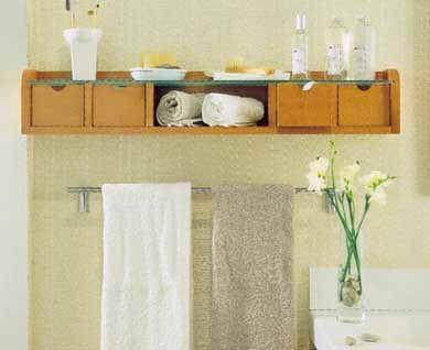 25 ideas de almacenamiento para baños pequeños Ideas de - decoracion baos pequeos
