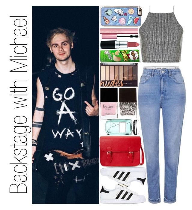 """""""Backstage with Michael"""" by narryismybae ❤ liked on Polyvore featuring Calvin Klein Underwear, Forever 21, Boohoo, adidas Originals, Zero Gravity, Too Faced Cosmetics, Butter London and By Terry"""
