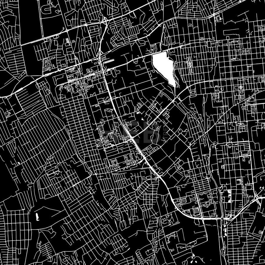 Almaty Kazakhstan downtown map dark